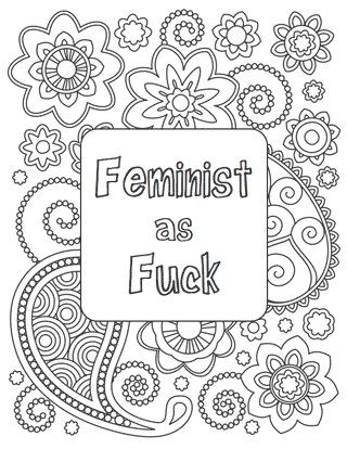 feminist coloring pages Free Printables: Feminist Colouring Pages feminist coloring pages